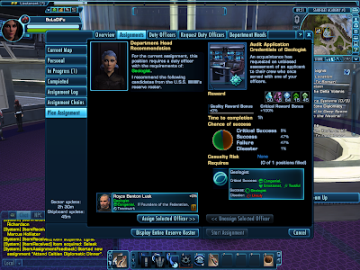 Star Trek Online - Planning an Assignment