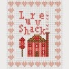 love shack valentines cross stitch chart