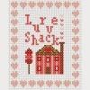 love shack valentines cross stitch chart