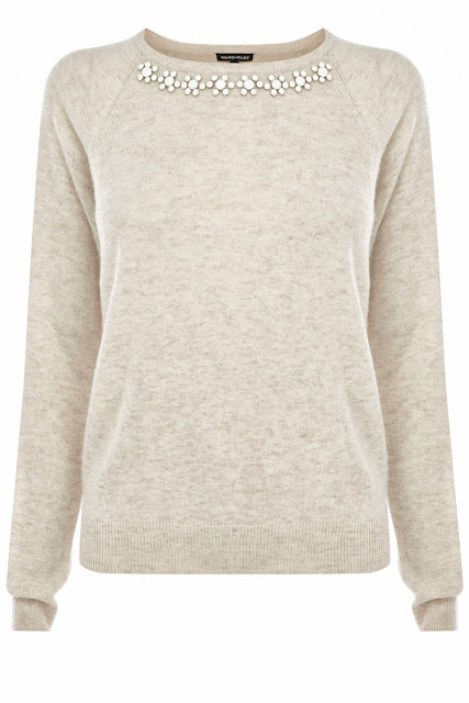 cream jewelled jumper