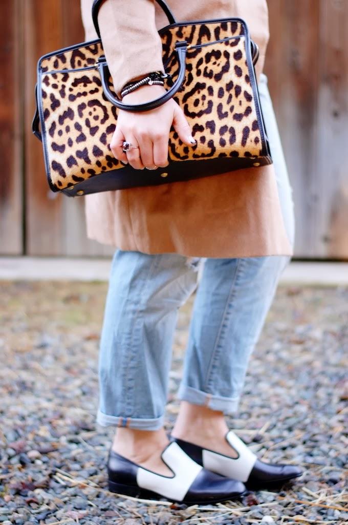 YSL Cabas Chyc leopard