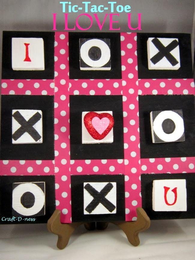 Tic-Tac-Toe I Love U Board