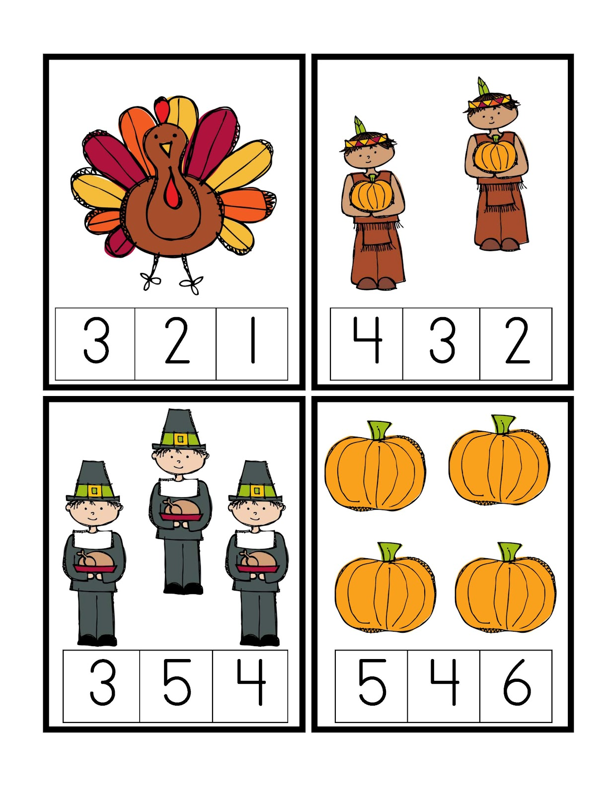 Preschool printables may 2012 for Thanksgiving crafts for preschoolers free