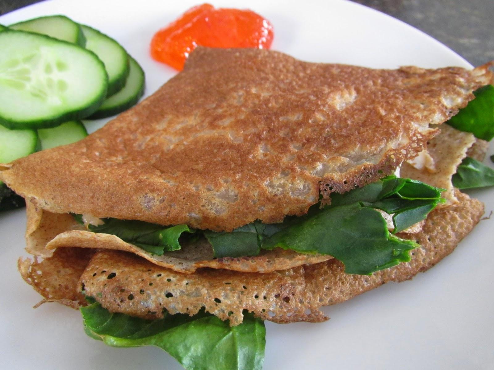 Gluten Free Hot Crepe Sandwich