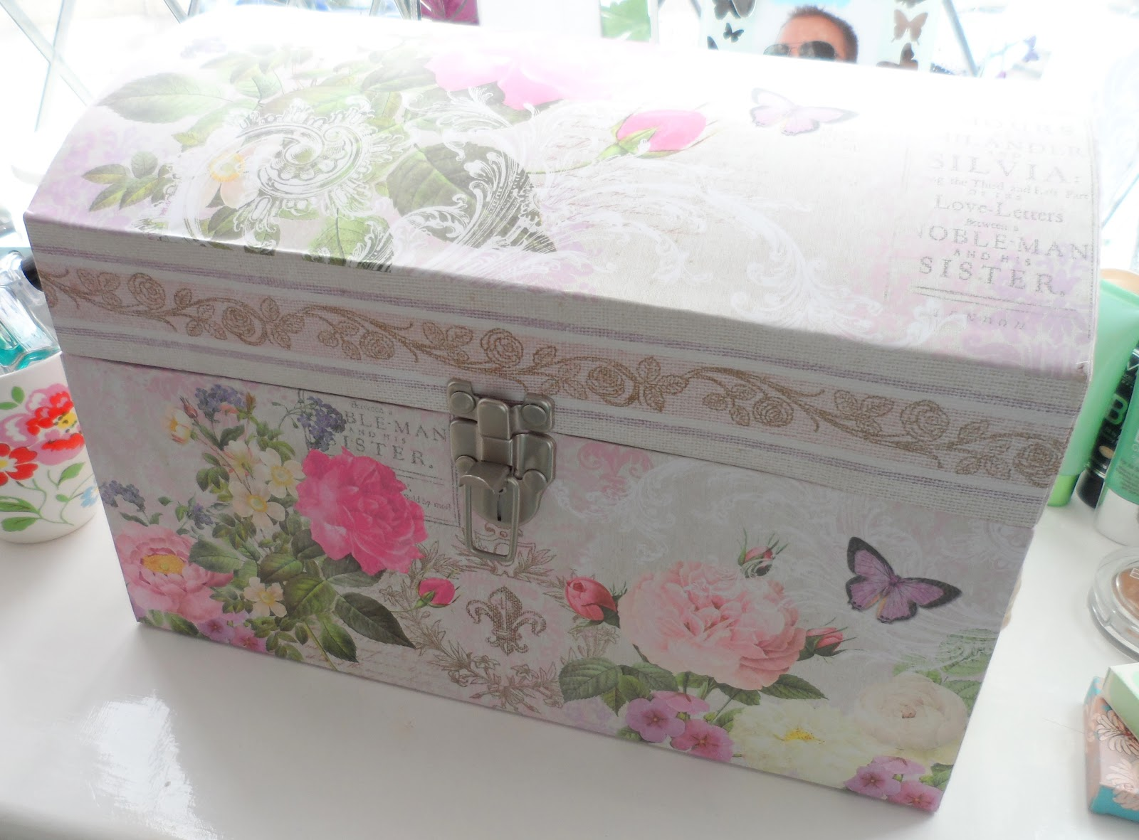 Pretty Storage Boxes 40 L Canvas Storage Box With Lid By