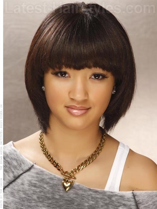 Bob Hairstyle With Fringe More Hairstyles