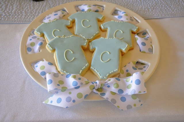 initial onesie cookies
