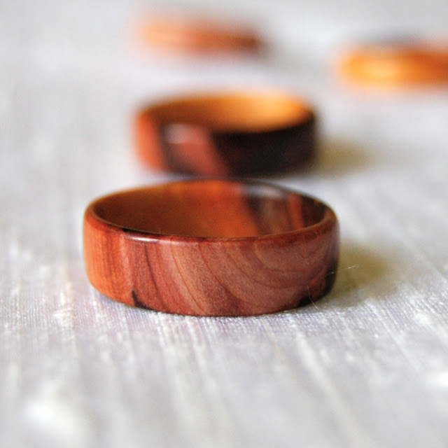 I love handmade yew wooden ring by inspired to make for How to make a wooden ring