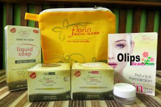Florin Skin Care Paket Normal Kemasan Baru : Menghilangkan Bekas Jerawat Flek Hitam dan Memutihkan Wajah