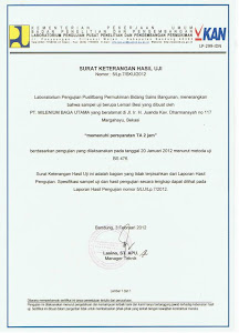 Sertifikat Uji Tahan Api New Cartenz Safe (SNI 5/Lp.7/SKU/2012)