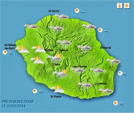 météo réunion 22 mars 2014