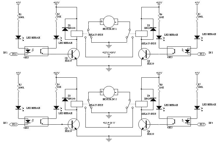 belajar arduino dan tutorial arduino  rangkaian driver motor