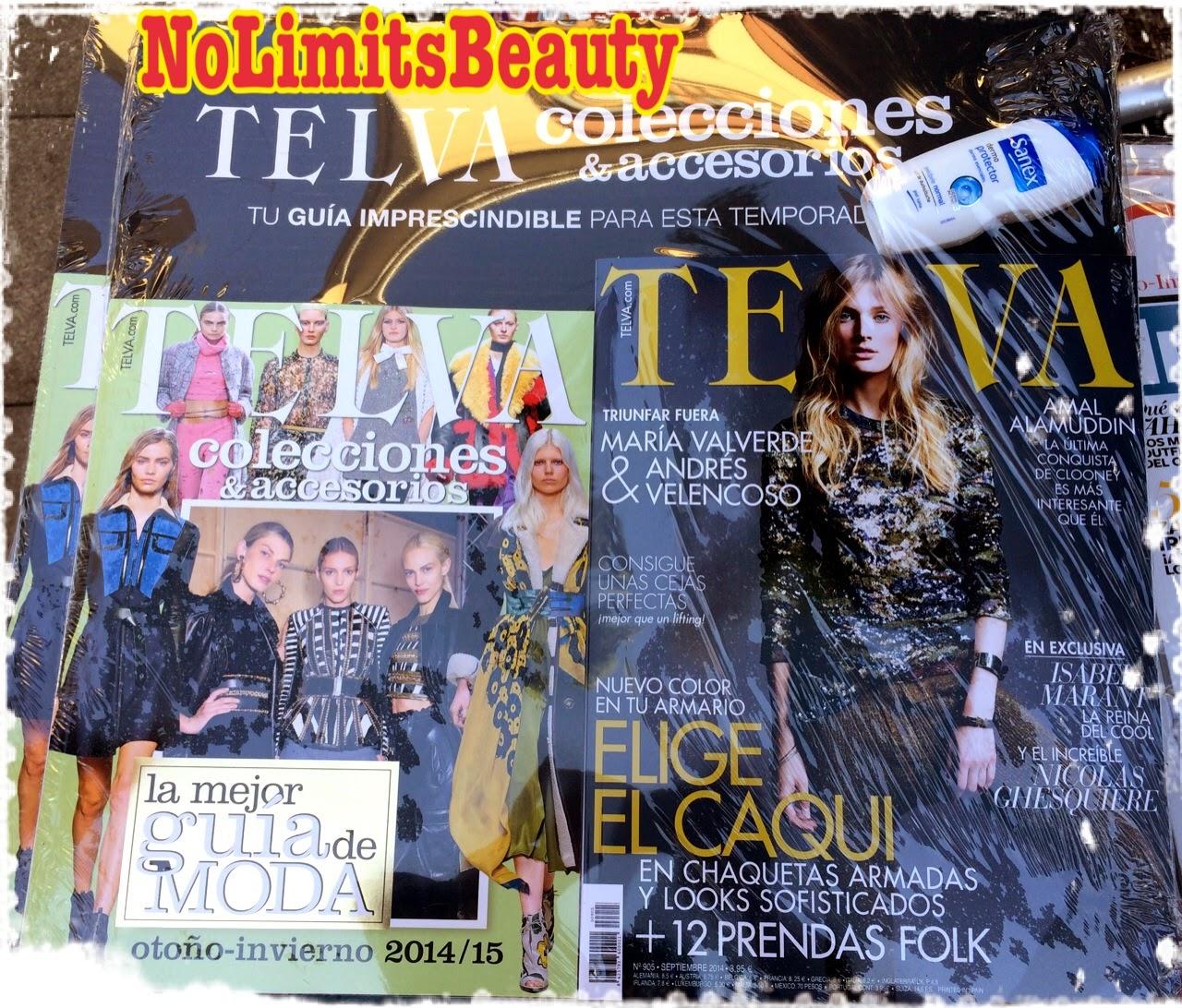 Regalos revistas septiembre 2014: Telva