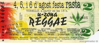 entrada concierto u-zona festival reggae