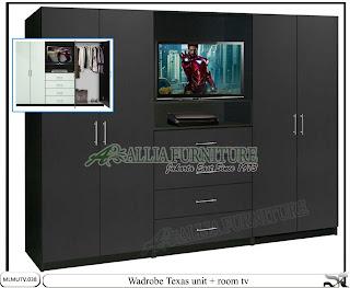 Lemari tipe minimalis model tv Texas