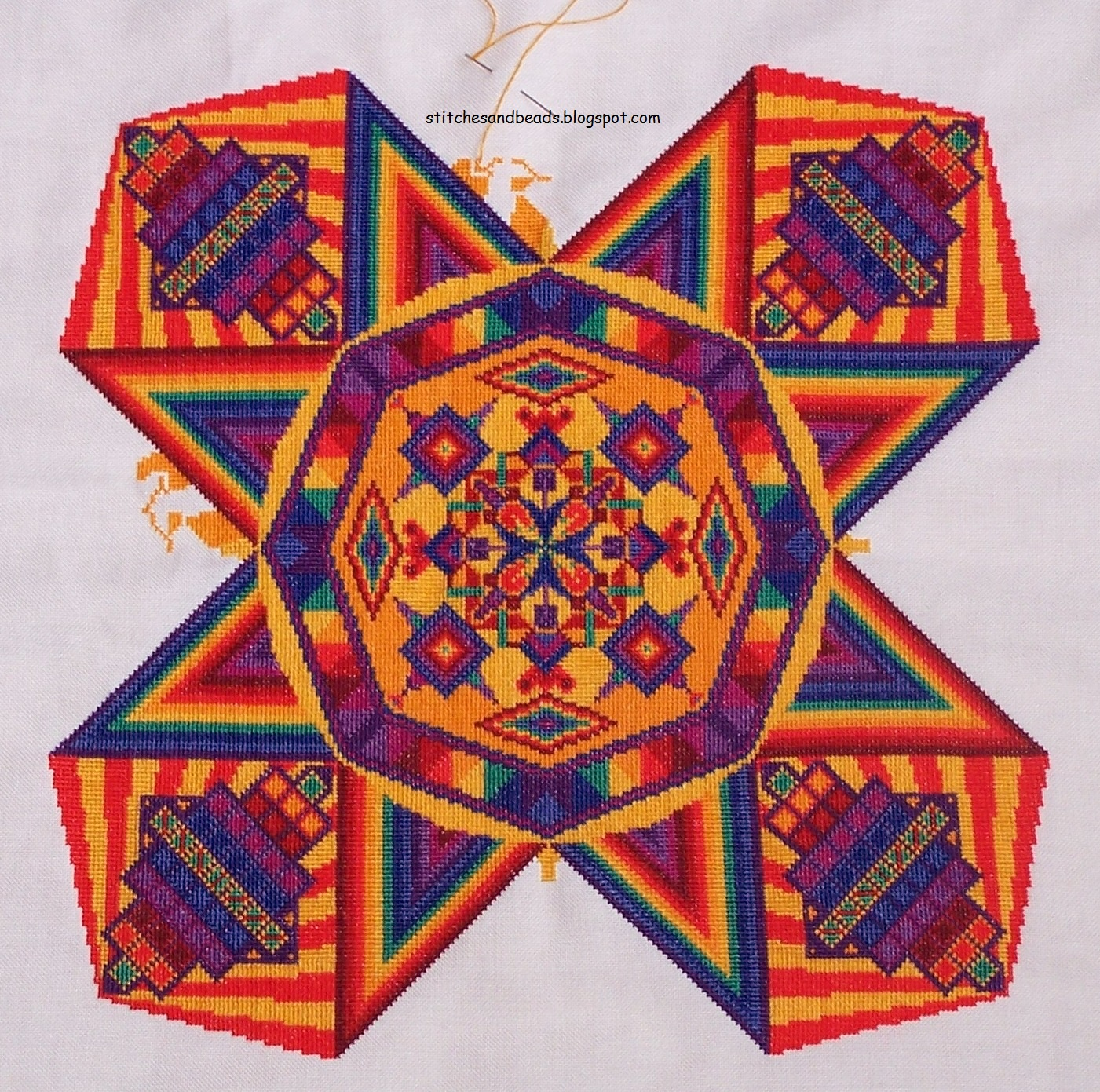 Weer Een Stapje Verder: Stitches And Beads: Mandala Stephanie Gevers-weer Een
