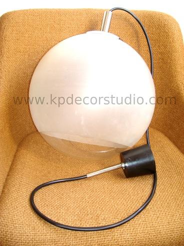 comprar lámparas retro, vintage, lamparas colgantes de bola cristal, bola opalina, puro vintage
