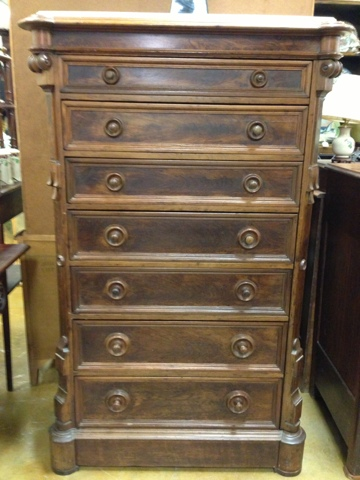 Antiques Art And Collectibles Renaissance Revival Walnut Chest Of Drawers Antique Furniture