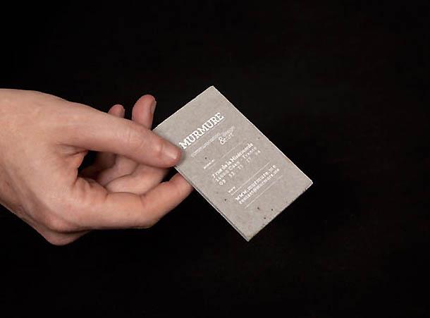 cartões de visita criativos - Murmure