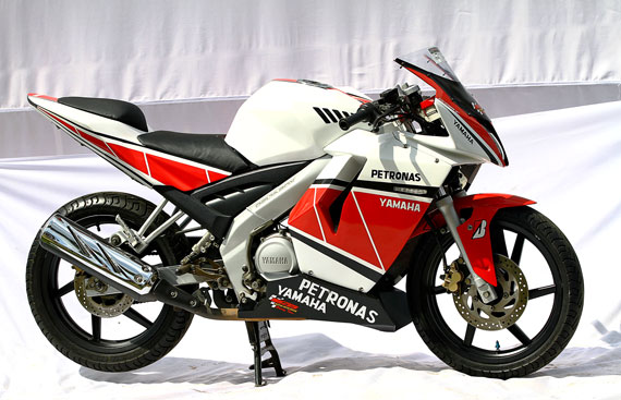 Modif Yamaha Vixion Warna Merah