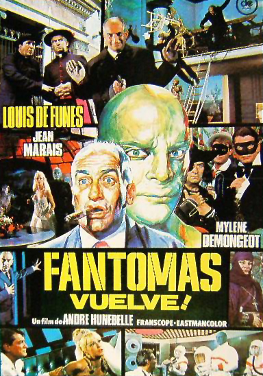 Fantomas, Fantomas vuelve, Fantomas contra Scotland Yard, Louis de Funès, Jean Marais, André Hunebelle