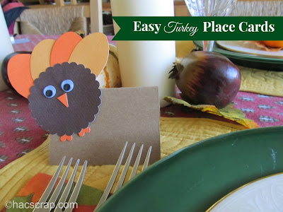 DIY Turkey Place Cards for Thanksgiving