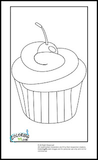 easy cupcake coloring pages for kids