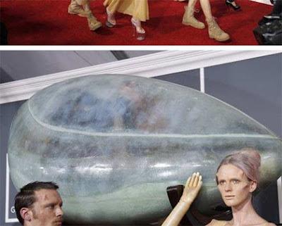Lady Gaga en Alfombra Roja de Premios Grammy 2011