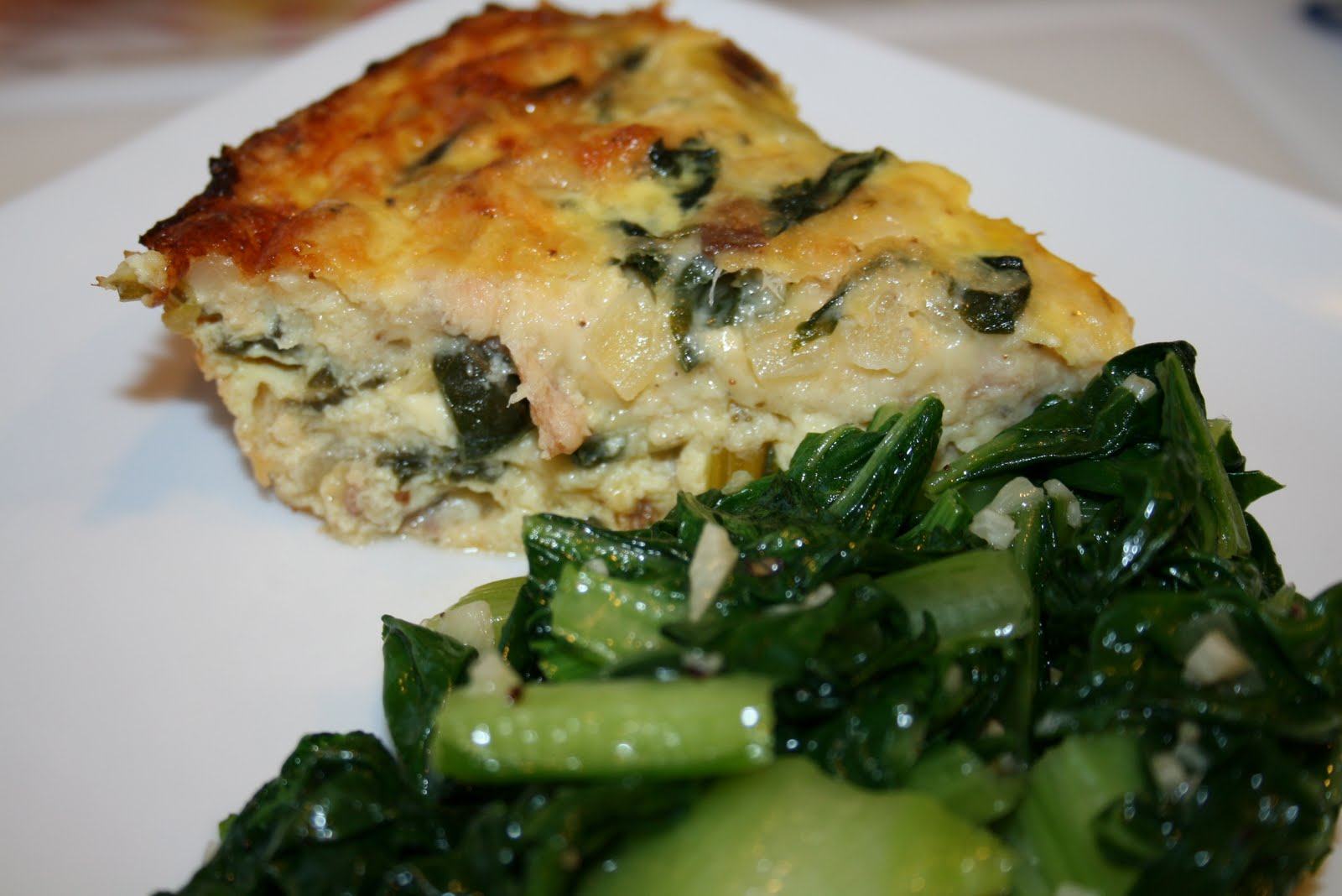 ... What's Cookin?: (Meatless Monday) Smoked Salmon and Swiss Chard Quiche