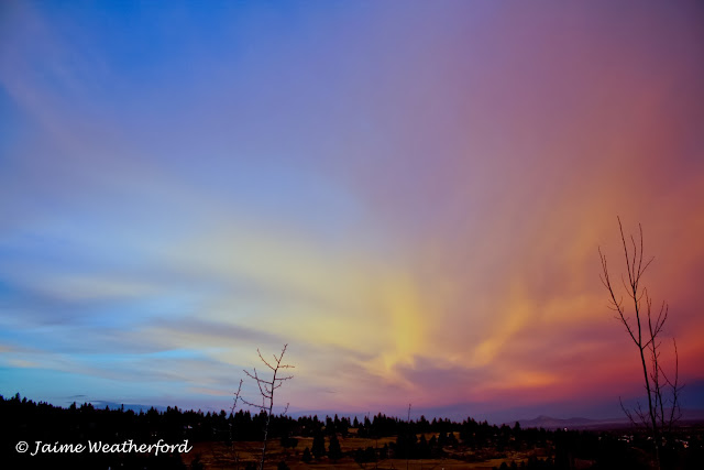 Jaime Weatherford Gorgeous Winter Sunset Awbrey Butte  Bend Oregon