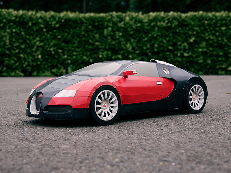 Check Out This Amazing Paper Folded Bugatti Veyron