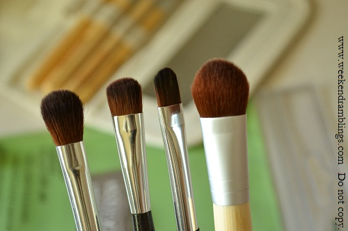 ectools bamboo 6 piece 5 brushes eyeshadows makeup blog set reviews