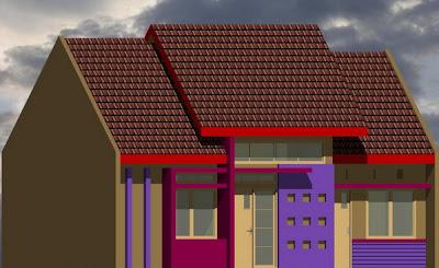desain minimalis rumah type 69
