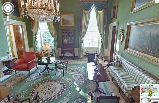 salon vert de la maison blanche