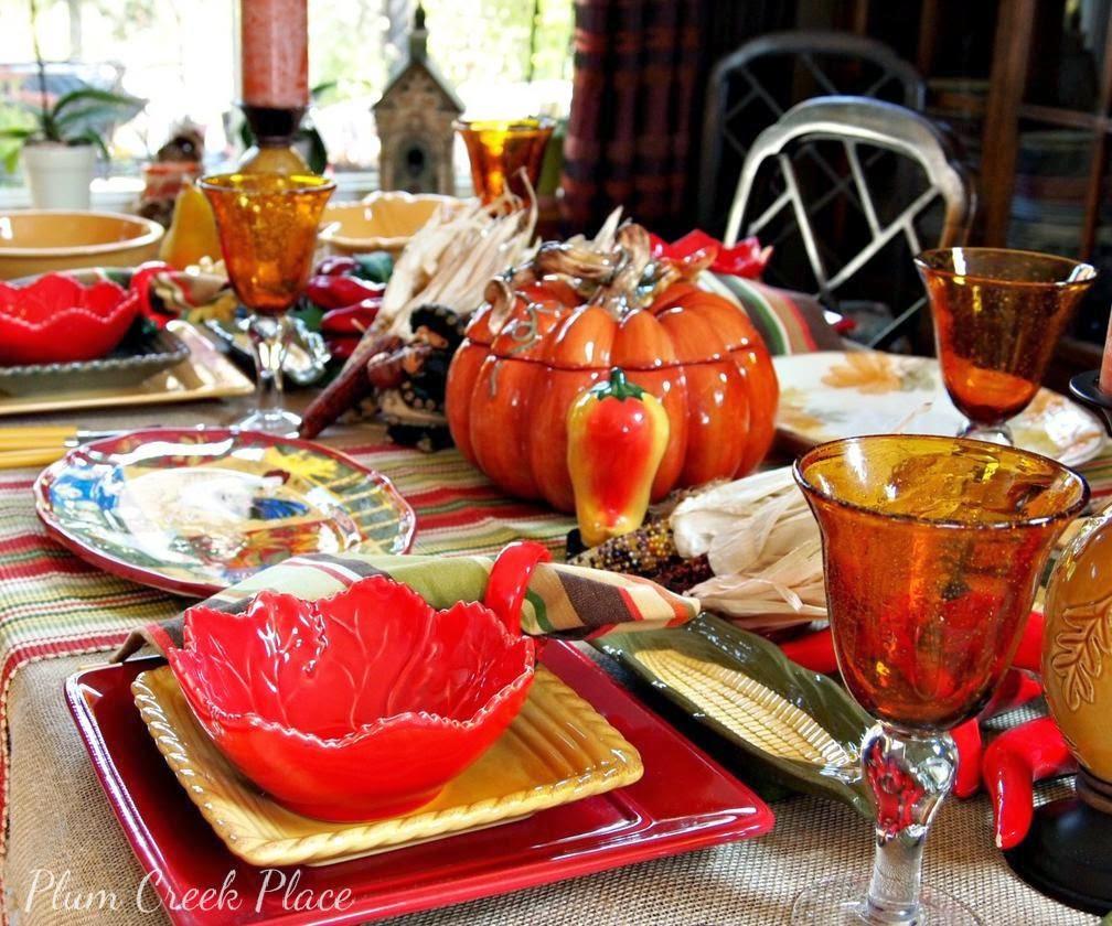 Fall Fiesta Tablescape, fall decor