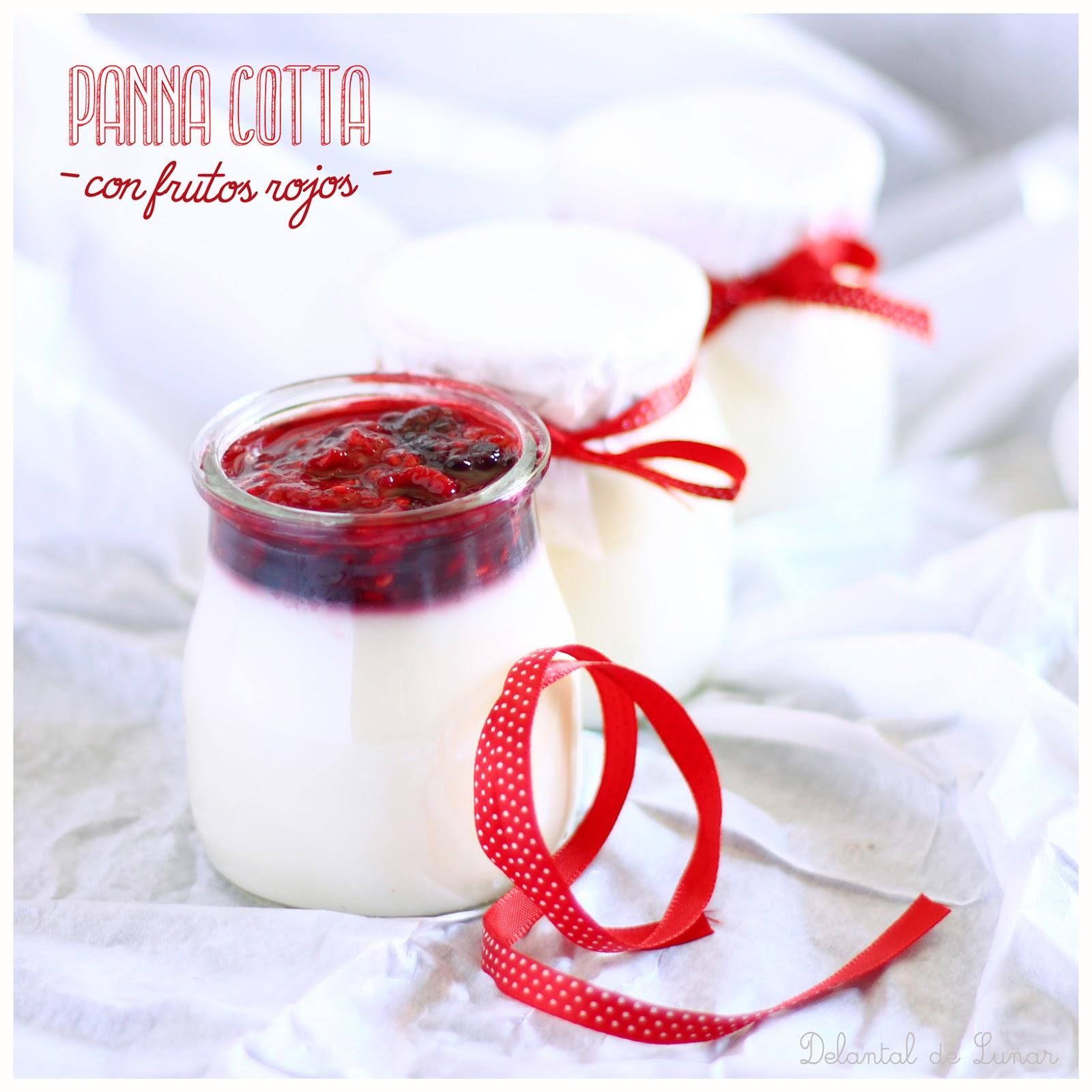 Foto: Panna Cotta con frutos rojos.