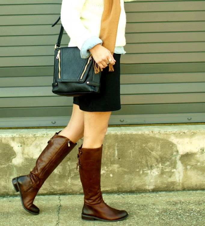 Vince Camuto Cognac Brown Riding Boots