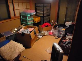 汚部屋片付けビフォー画像 2F和室