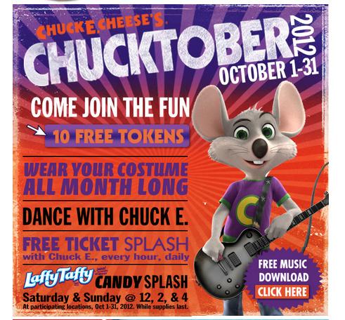 Chuck e cheese coupons canada