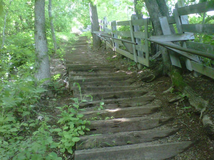 Just a Few Stairs on Our Hike!