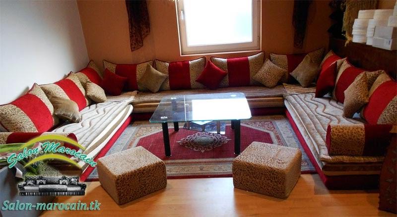 Salon marocain moderne 2014 — Salon marocain traditionnel confortable