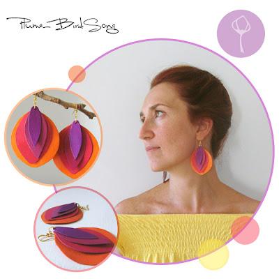 birdsong+paper+earrings