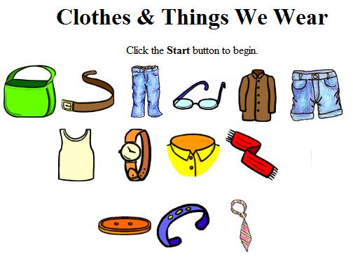 English Is All Around Clothes And Things We Wear