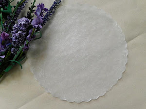"8"" Glassine Doilies - Set Of 10 - Price $3.25"