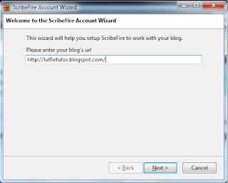 Konfigurasi ScribeFire Blog Editor