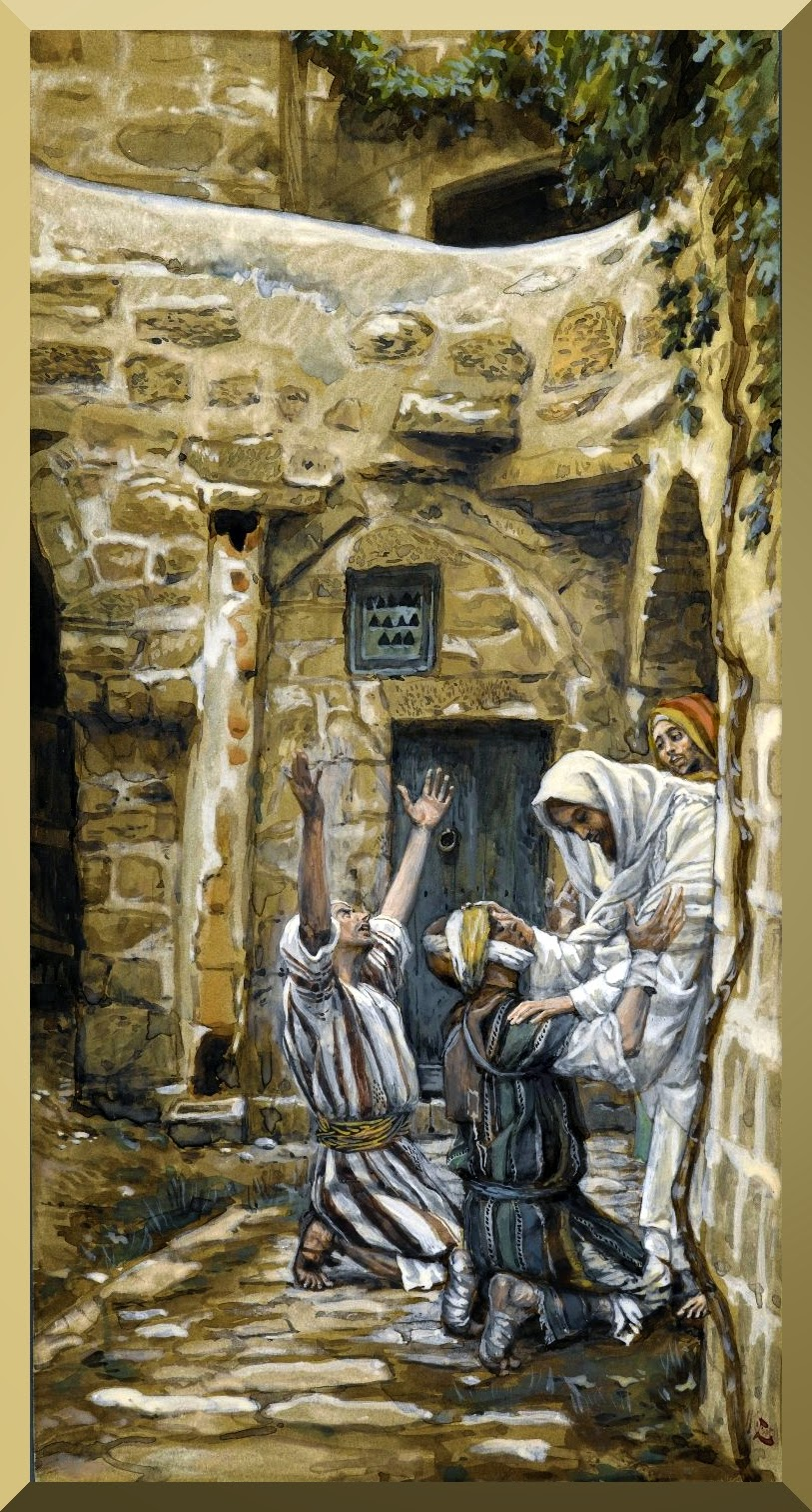 """The Blind of Capernaum"" -- by James Tissot"