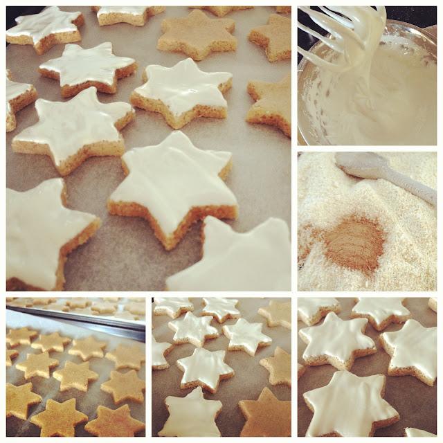 biscuit, noel, cannelle, amandes, étoiles