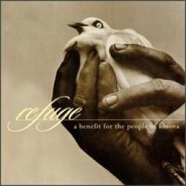 Portada del álbum solidario por Kosovo, Refuge en el que participó Larry Fast como Synergy con una versión de la Pavane de Maurice Ravel