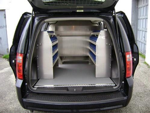 Panelvan araçlar için raf sistemleri