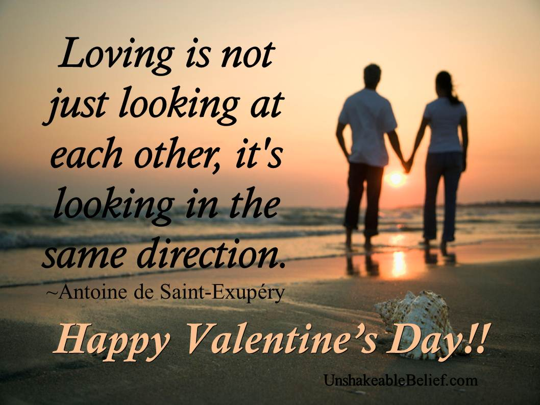 Quotes About Love Each Other : Loving is not just looking at each other, its looking in the same ...